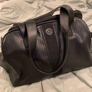 Lululemon Duffel Bag - Woven Black Leather